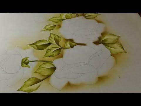 Como Pintar Manteles / Mantel De Rosas