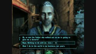 Fallout 3- Dad knew I blew up Megaton