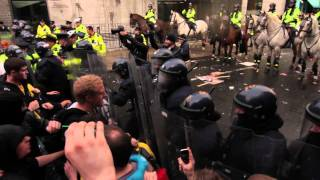 Merrion Row Clashes -  Dublin November 3rd 2010 HD