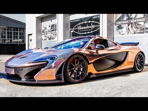 GBP2m Mclaren P1 Wrapped In Rose Gold