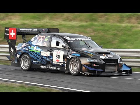 Mitsubishi Lancer Evo VIII J-Spec Bergmonster in action at FIA Hillclimb Masters 2018!