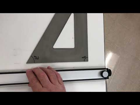 Setting Up Paper on a Drafting Table