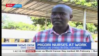Migori County nurses at work as county government complies  by  paying the enhanced allowances