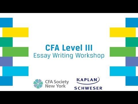 CFA Level III Essay Writing Workshop