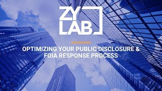 Webinar - Optimizing Your Public Disclosure & FOIA Response Process
