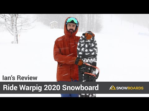 Video: Ride Warpig Snowboard 2020 7 50