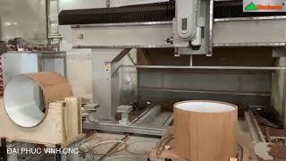 MÁY GIA CÔNG TRUNG TÂM CNC 3D 5 Axis Trục 2 Bàn thay dao tự động Woodmaster gia công trống tròn