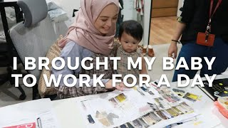 I Brought My Baby to Work For a Day | Vivy Yusof