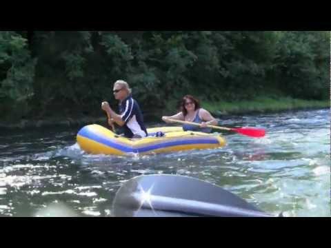 Mit Schlauchboot und Kajak auf der Sauer   1080p
