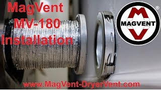 MagVent MV-180 Dryer Vent Installation