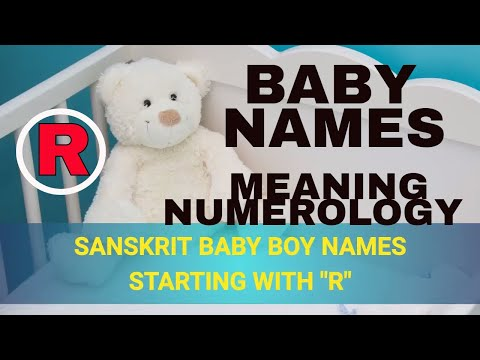 Baby Boy Names Starting With R In Sanskrit Hindi Most Beautiful