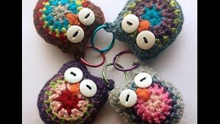 Super CUTE! Crochet Owl Key Chain Tutorial