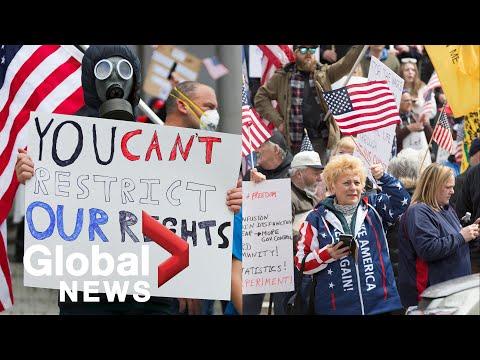 Coronavirus outbreak: Hundreds protest COVID-19 lockdown measures across the US