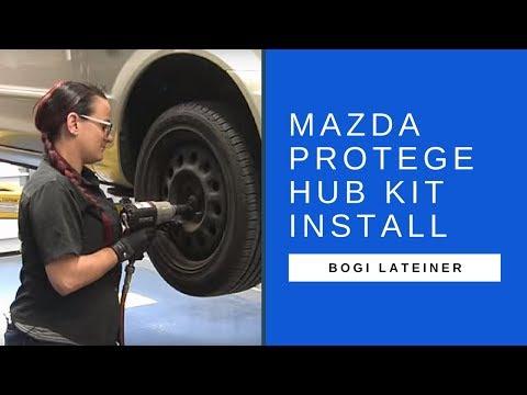 SKF hub kit install on Mazda Protegé