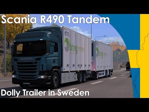 Download Scania R490 Tandem w/ Dolly Trailer in Sweden