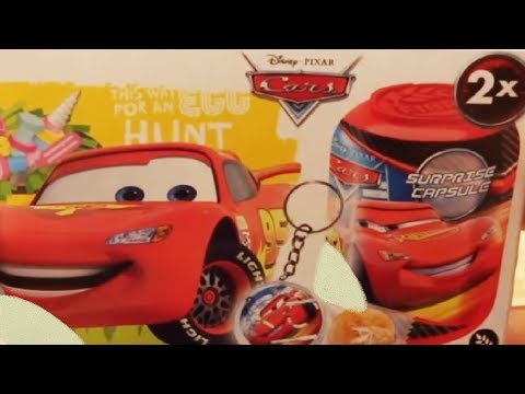 Cars 3 Disney Pixar Lightning McQueen 10 Kinder Surprise Eggs Capsule