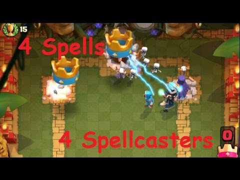 4 Spells 4 Spellcaster Challenge     This is so fun!     Clash Royale