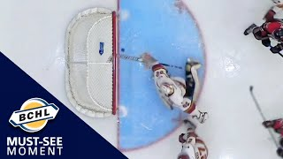 Must See Moment: Mathieu Caron clears the puck out of mid-air off the goal line