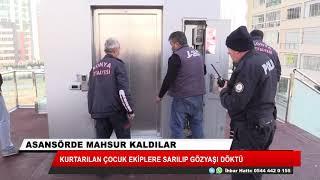 Konya'da yaya geçidi asansöründe mahsur kalan anne ve oğlu kurtarıldı