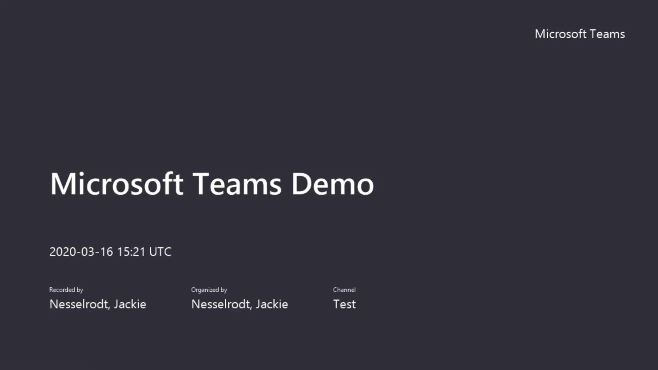 Play HSC ITS Microsoft Teams Demo