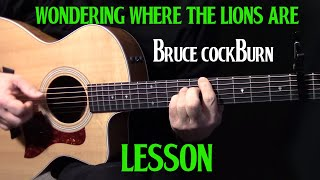 "how to play ""Wondering Where the Lions Are"" on guitar by Bruce Cockburn - acoustic guitar lesson"