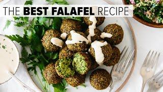 THE BEST FALAFEL RECIPE | crispy fried and baked falafel options (vegan)