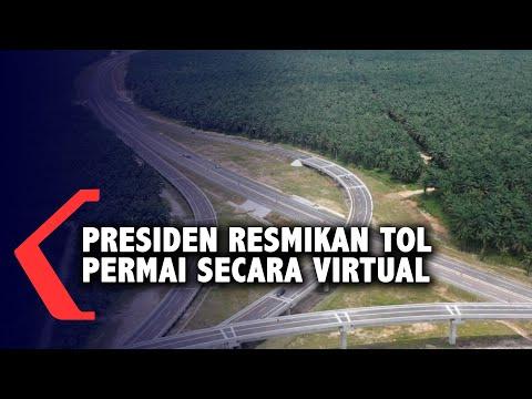 presiden resmikan tol permai secara virtual