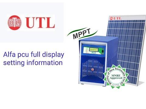 UTL Alfa Plus Off Grid Solar PCU