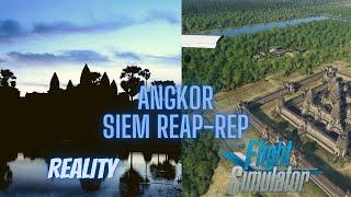 Angkor Wat   Reality vs. Microsoft Flight Simulator