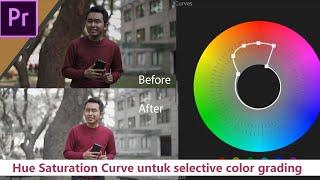 Cara Selective Color Grading menggunakan Hue Saturation Curve (Premiere Pro Tutorial)