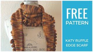 Easy Ruffle Scarf Free Knitting Pattern