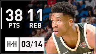 Giannis Antetokounmpo Full Highlights Bucks Vs Magic (2018.03.14) - 38 Points, 11 Reb, 7 Assists