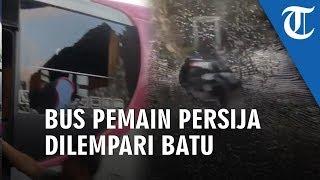VIDEO: Jelang Laga Final Leg Kedua Piala Indonesia, Bus Pemain Persija Jakarta Diduga Dilempari Batu