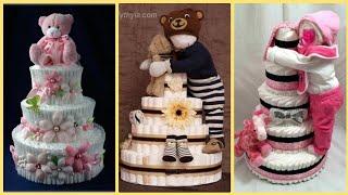 DIY 18 Adorable Diaper Cake Ideas To Make A Baby Shower More Special!