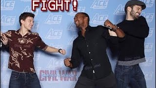 Sebastian Stan & Anthony Mackie JOKINGLY Dragging Tom Holland for 10 minutes Straight !
