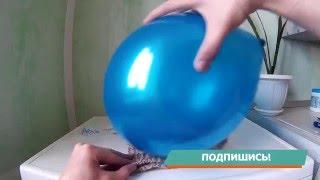 Необычный опыт с шариком!! Пакет взлетае  в воздух!!!