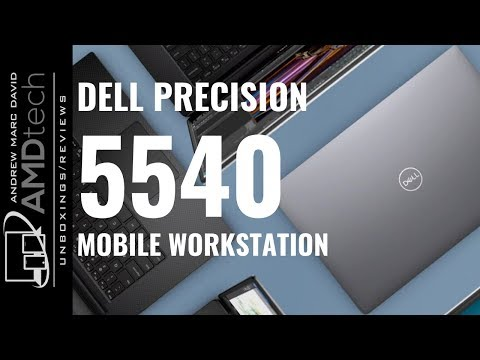 """External Review Video aQSciwFdRno for Dell Precision 5540 15.6"""" Mobile Workstation (2019)"""