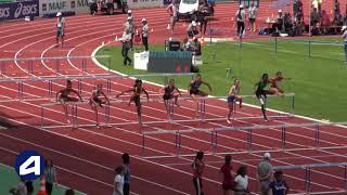Bondoufle 2018 : Finale 100 m haies Juniors (Sacha Alessandrini en 13''44)