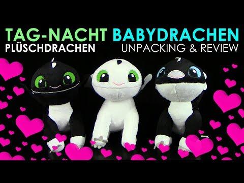 Dragons 3 - Tag-Nacht Babydrachen / Plüschdrachen - Unpacking & Review