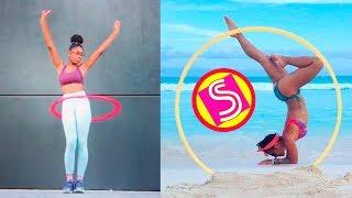 Смотреть онлайн Подборка: Девушки красиво танцуют с обручем