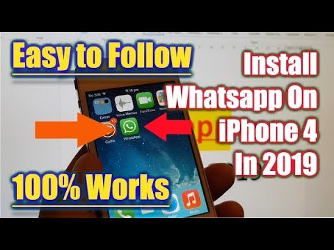 Install Whatsapp on iPhone 4 100% Works in March 2019