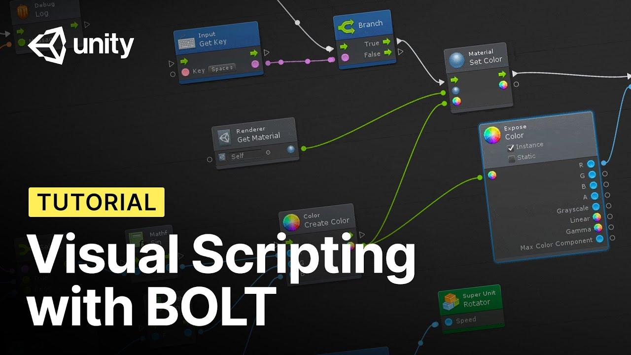 Captura de Godot Engine, motor de videojuegos, en un ejemplo de visual scripting