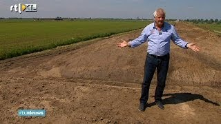 Boeren in Waspik op terpen om ruimte te maken voor het water.