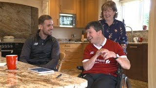Jordan Henderson suprises a lifelong LFC fan | Pure Liverpool FC