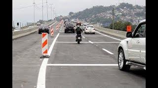 Viaduto Anchieta e passarela de pedestres são as primeiras obras entregues da Nova Entrada de Santos