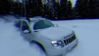 Покатушки на рождество Рено дастер VS Снег