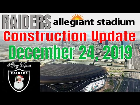 Download Las Vegas Raiders Allegiant Stadium Construction Update 12 24 2019 Mp4 HD Video and MP3