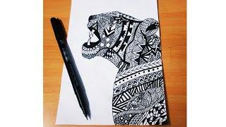 Simple Doodle Ideas : Jaguar Doodle   Doodle Frames