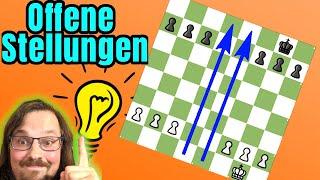 So spielt man OFFENE Stellungen ||  Schach Strategie Samstag für Anfänger und Fortgeschrittene