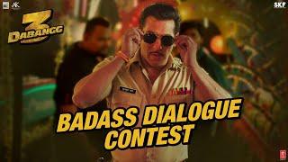 Dabangg3 Badass Dialogue Contest Salman Khan Sonakshi Sinha Prabhu Deva